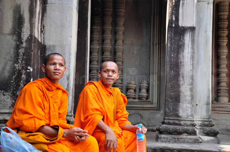 Download Monks in Cambodia editorial stock photo. Image of nose - 17382738