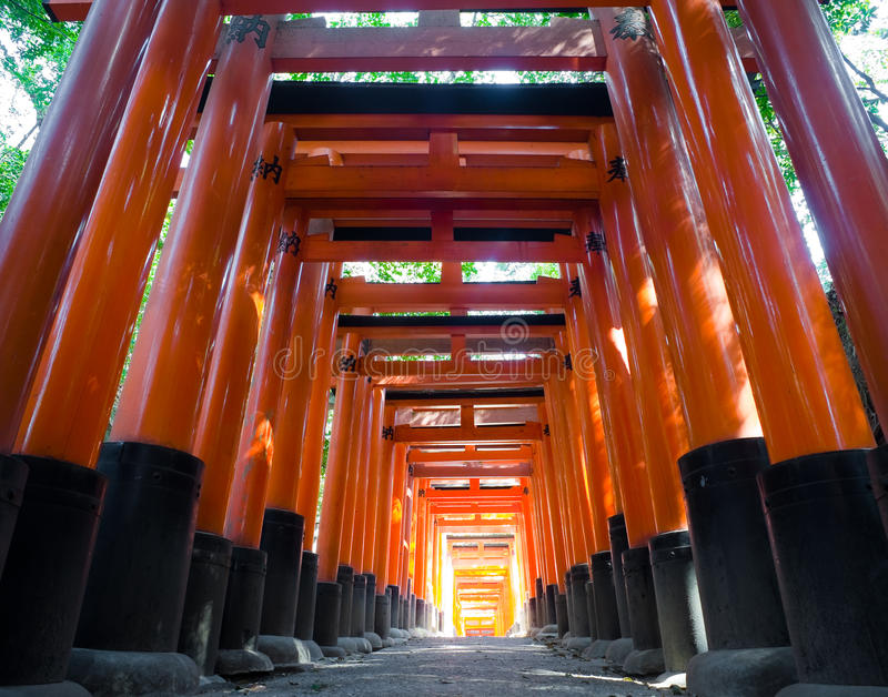 Monks path to enlightenment royalty free stock photography