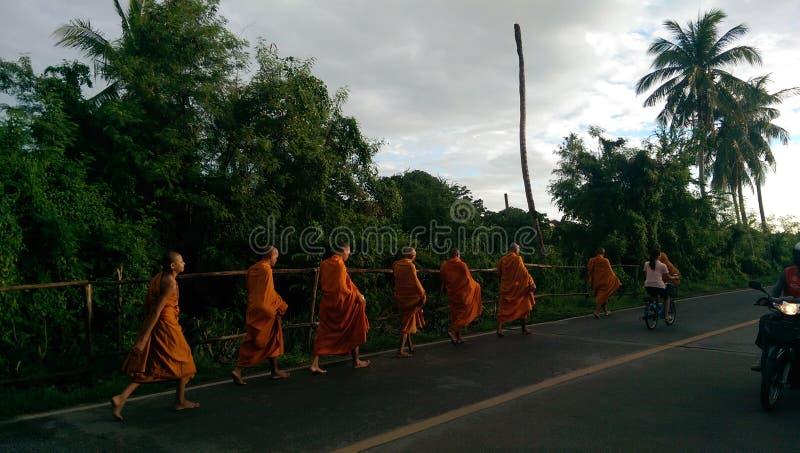 Monks stock image