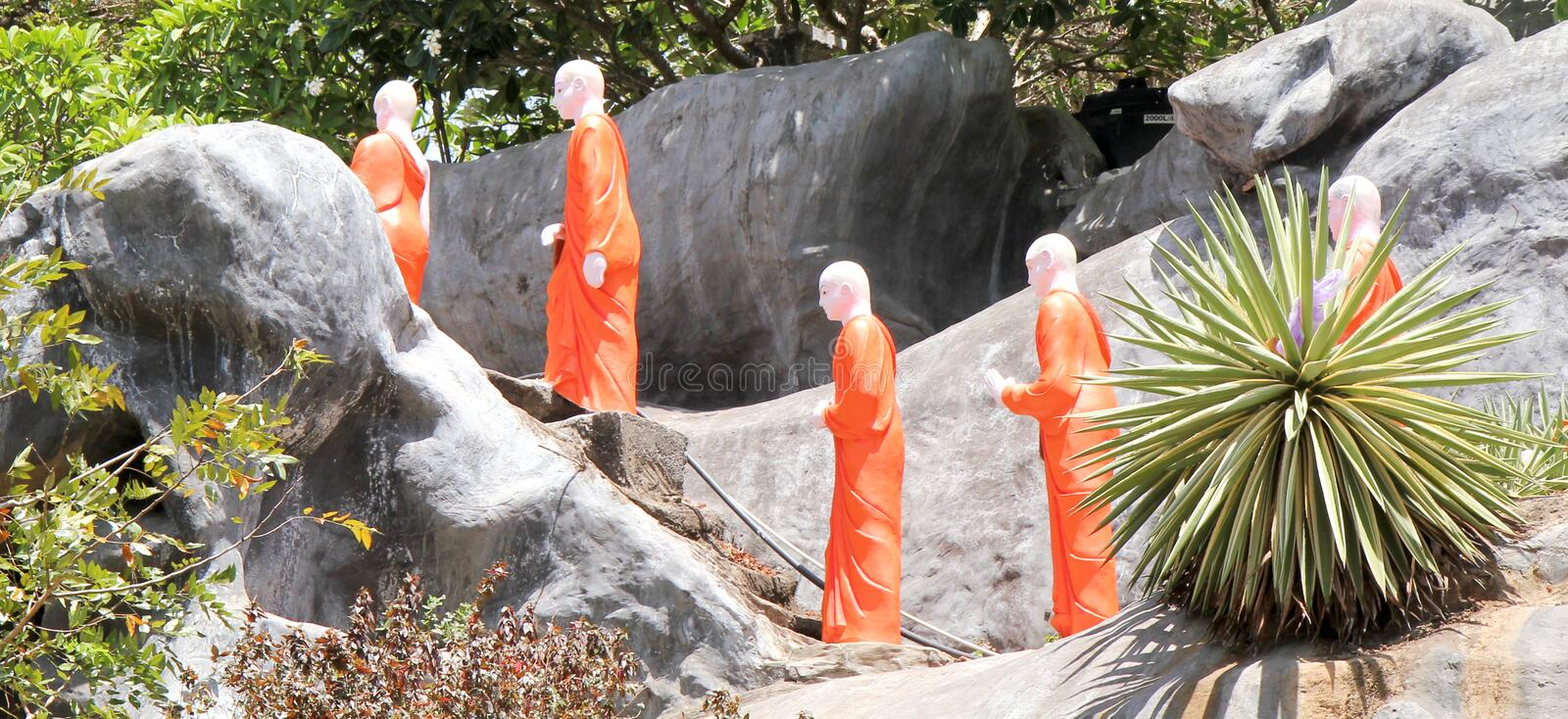 Download Monks at temple stock photo. Image of walk, procession - 25838826