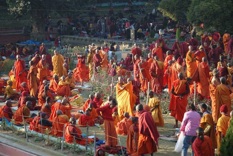 monlam kagyu Индии bodgaya стоковые фотографии rf