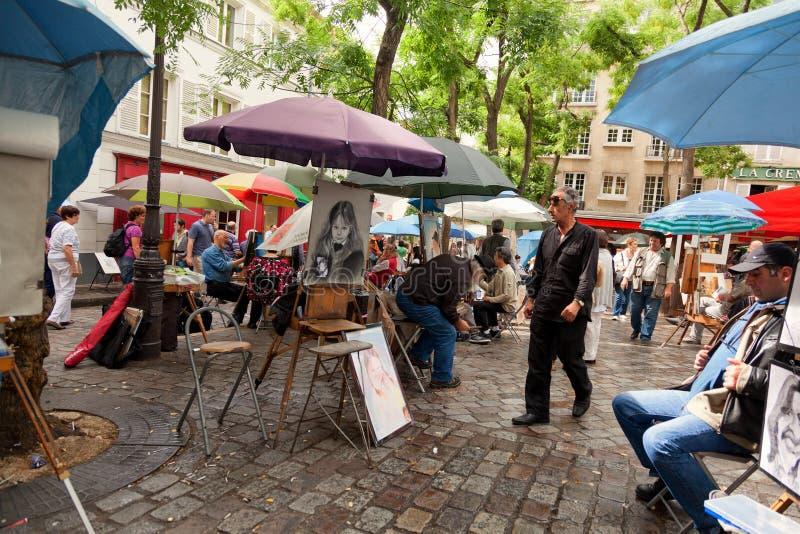 Monmartre, Париж стоковые изображения