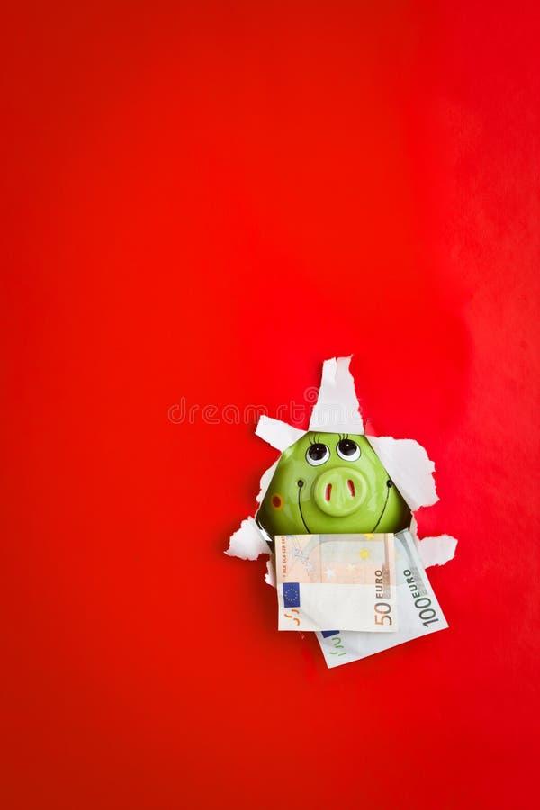 Monnaie De Banque Porcine Photographie stock libre de droits