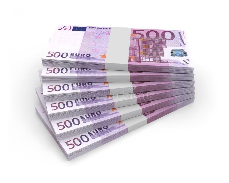 Monnaie euros billets. Monnaie argent euros billets banque profit vector illustration