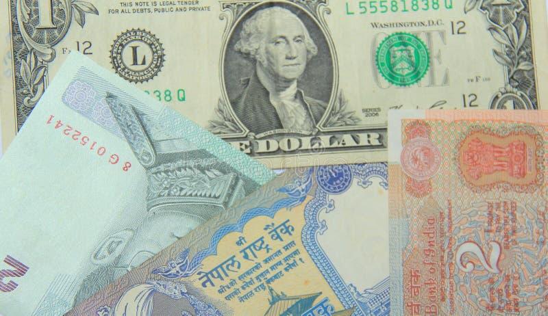 Monnaie internationale photographie stock