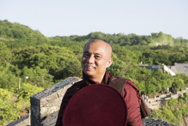 Monnik Myanmar royalty-vrije stock afbeeldingen