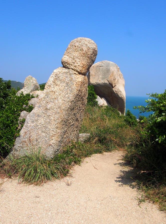 Monnik Rock in Hong Kong royalty-vrije stock afbeeldingen