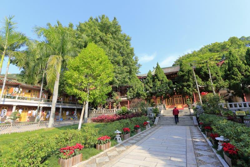 Monniksslaapzaal en de het bureaubouw van abt van minnan boeddhistische instituut van de zuiden het fujian boeddhistische univers stock afbeelding