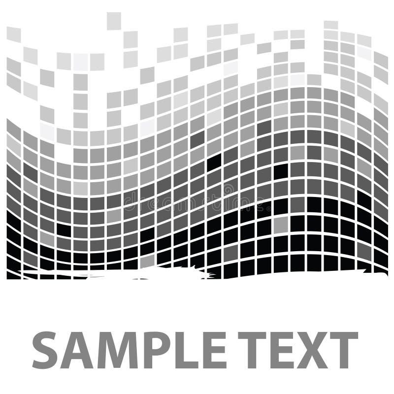 mono образец i придает квадратную форму текстуре иллюстрация штока