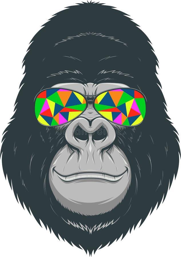 Mono alegre stock de ilustración