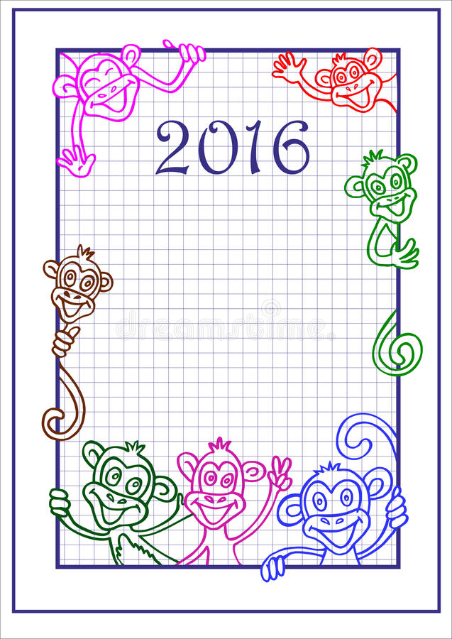 Mono 2016 Capítulo stock de ilustración