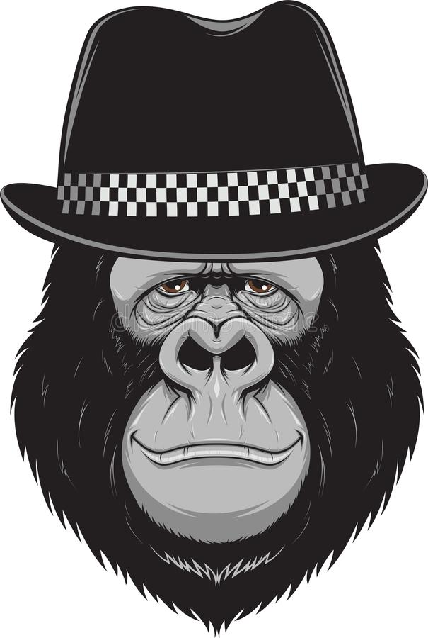 Mono con un sombrero libre illustration