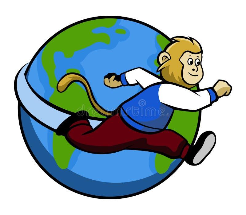 Mono corriente en todo el mundo libre illustration