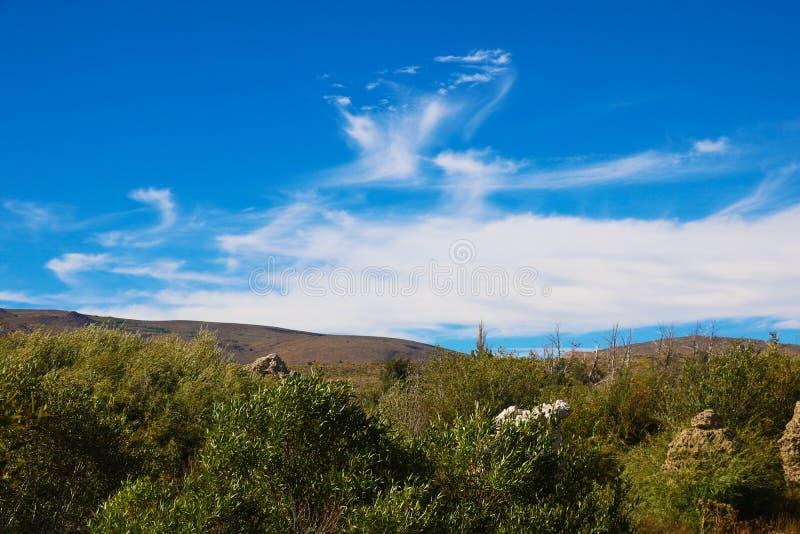 Mono County Fall-Farben an der Spitze - Mammutseen Kalifornien USA lizenzfreie stockfotos
