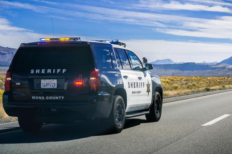 Mono County Sheriff Police car stock image