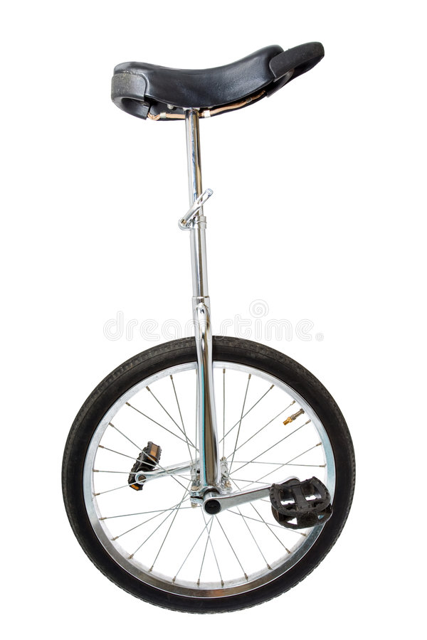 Download Mono cycle on white stock photo. Image of pedal, transportation - 7268006