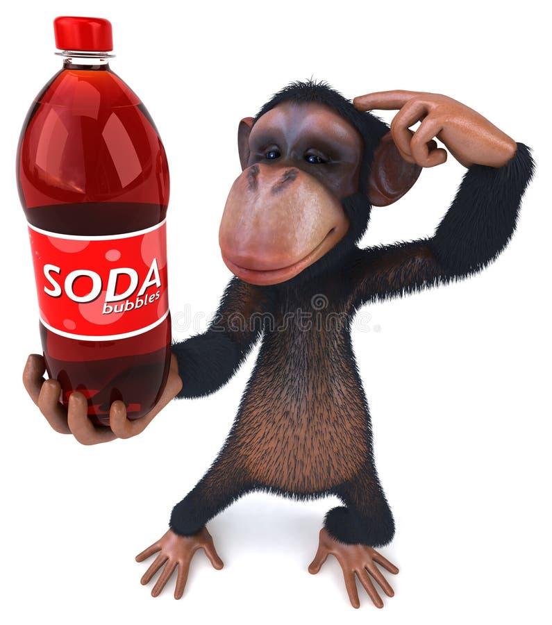 Mono de la diversión stock de ilustración