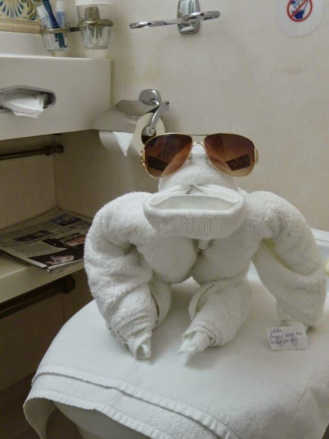 Mono de la toalla fotografía de archivo libre de regalías