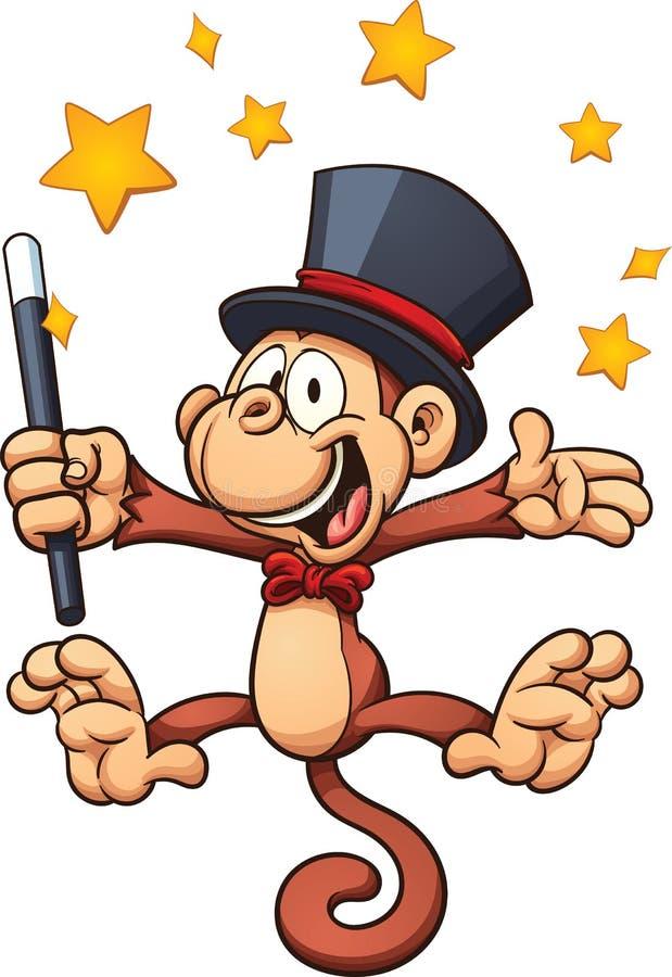 Mono del mago stock de ilustración