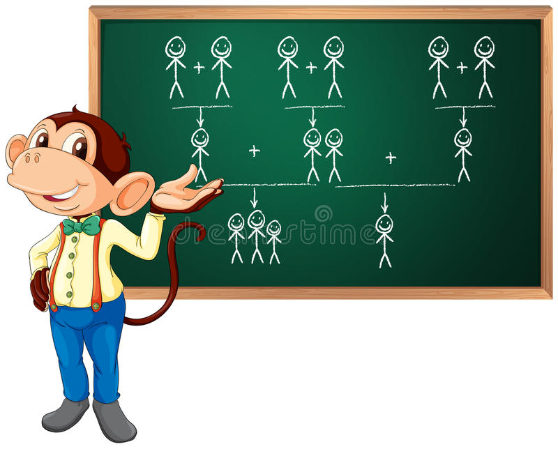 Mono del negocio ilustración del vector