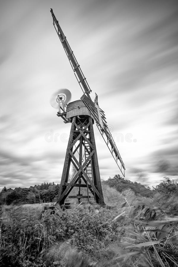 Mono Drainage Mill, River Ant, Norfolk Broads, England, Uk stock images