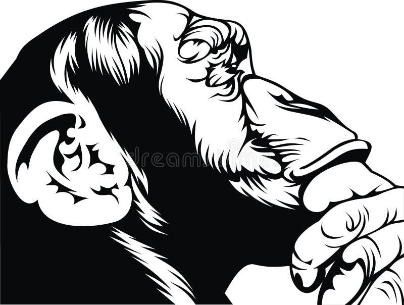 Mono elegante stock de ilustración