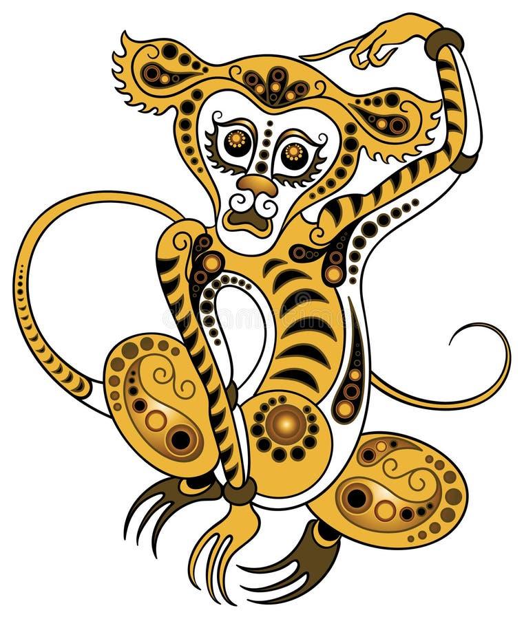 Mono en estilo del oro libre illustration