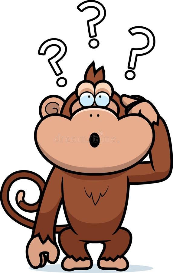 Mono estúpido de la historieta ilustración del vector
