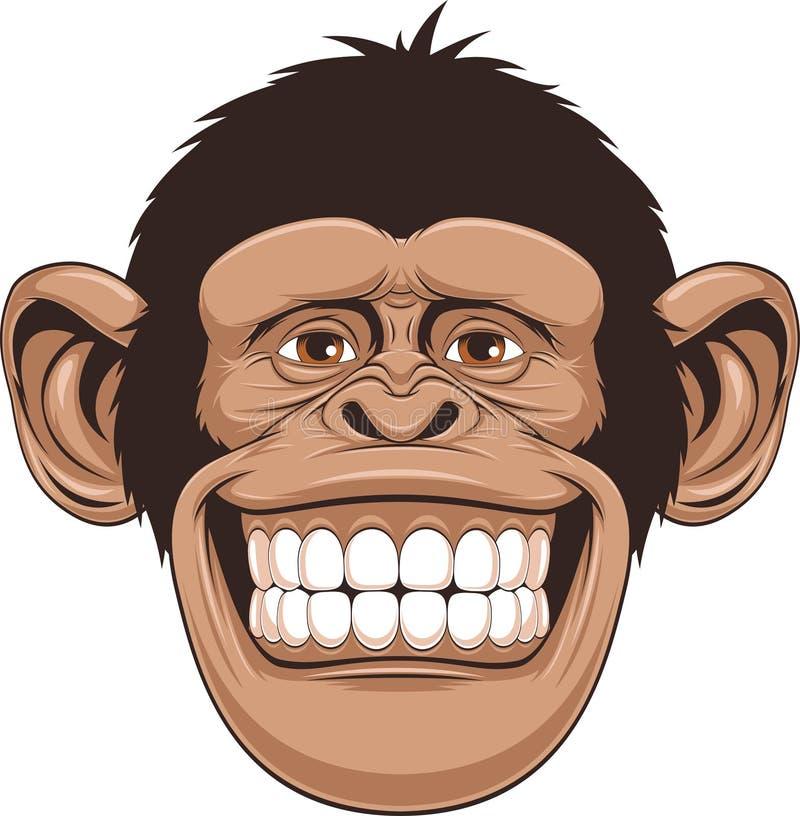 Mono feliz stock de ilustración