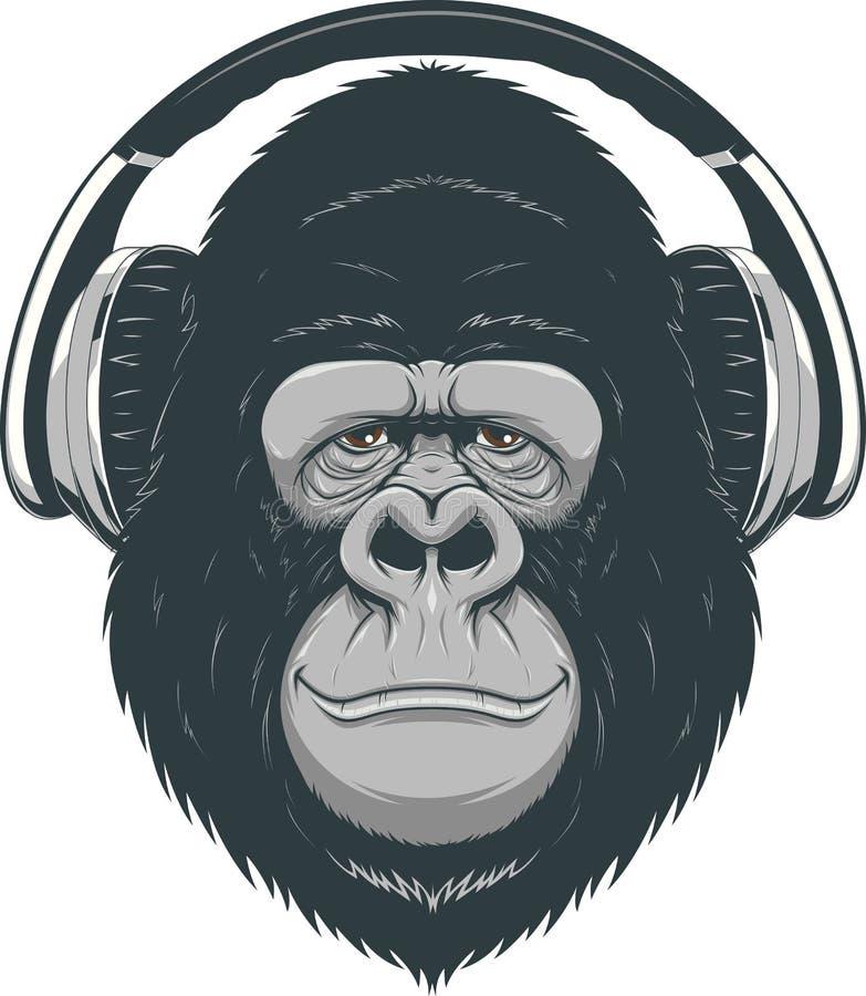 Mono feliz ilustración del vector