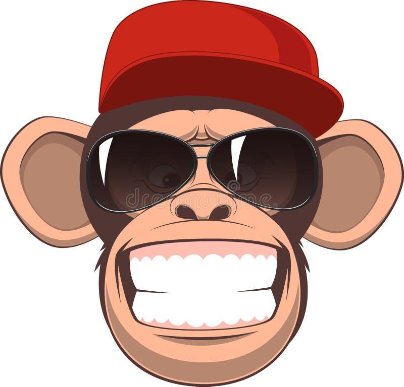 Mono feliz libre illustration