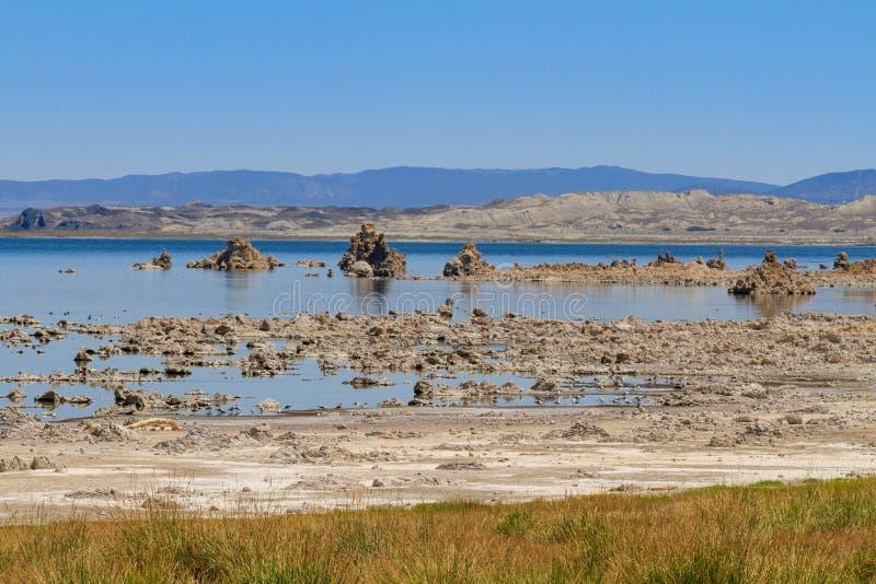 Mono formazioni della riva e del tufo del lago, California immagini stock libere da diritti