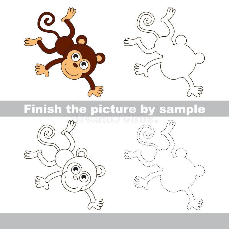 Mono Hoja de trabajo del dibujo ilustración del vector