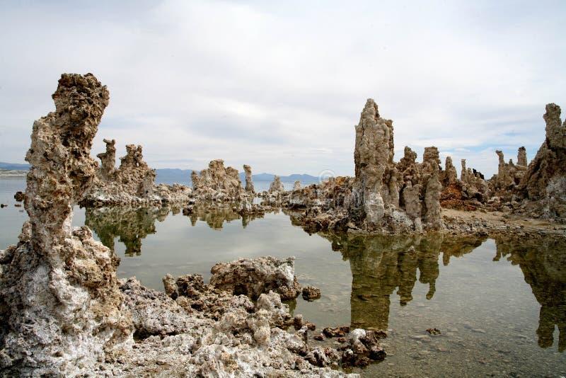 Mono lago in California fotografia stock libera da diritti