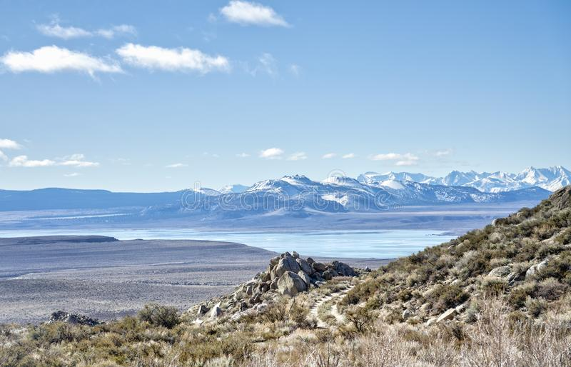 Mono Lake in early spring royalty free stock photography