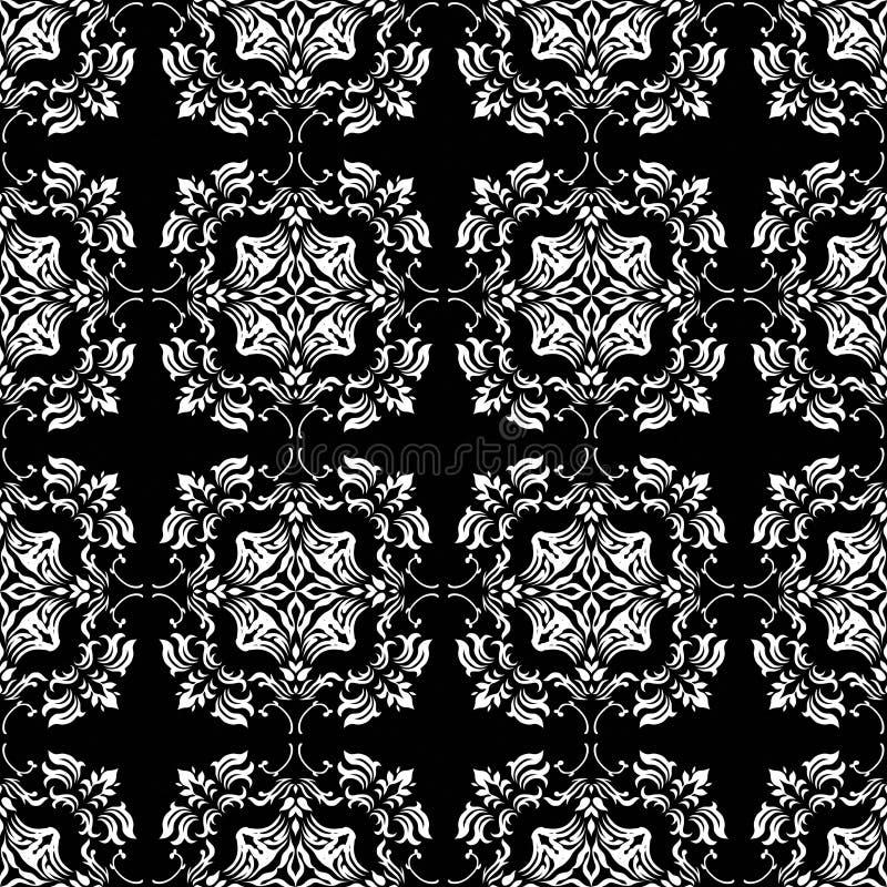 Mono ligação floral ilustração royalty free