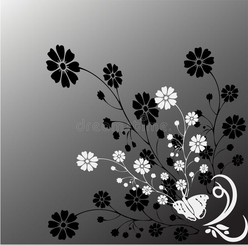 Mono natureza ilustração stock
