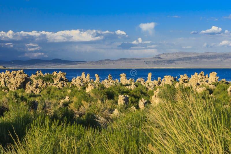 Mono paisagem do lago, Califórnia, EUA fotos de stock