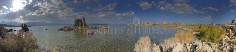 Mono panorama do lago imagem de stock royalty free