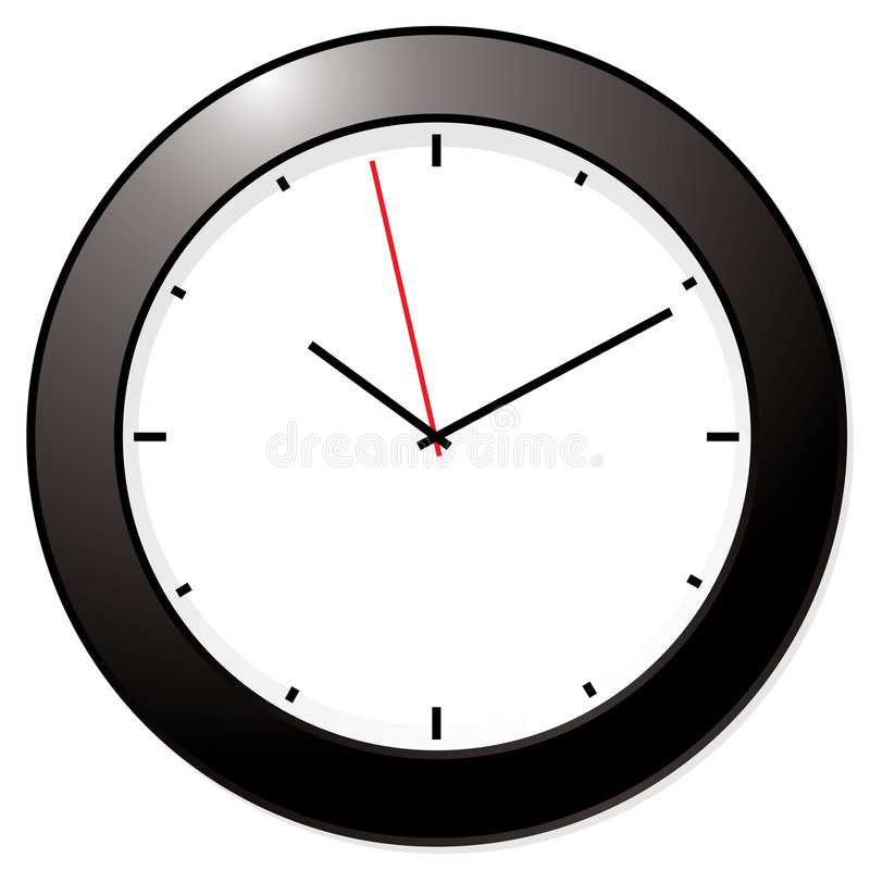 Mono reloj moderno stock de ilustración