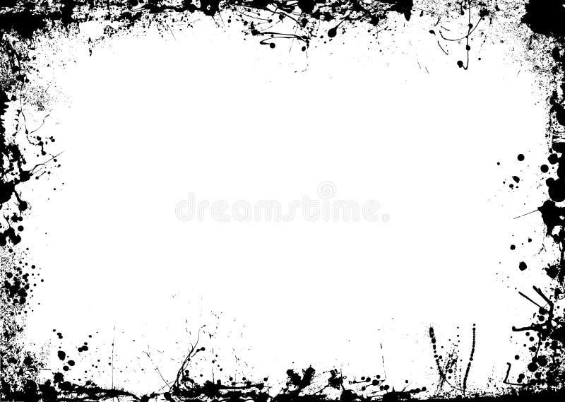 mono splat för kantfärgpulver stock illustrationer