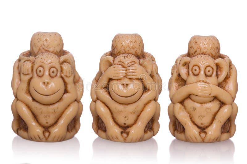 Mono Tres-hecho frente del juguete foto de archivo