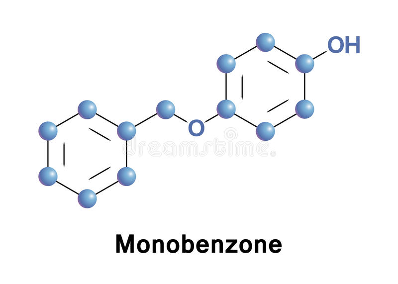 Monobenzone oder benzyloxyphenol stock abbildung