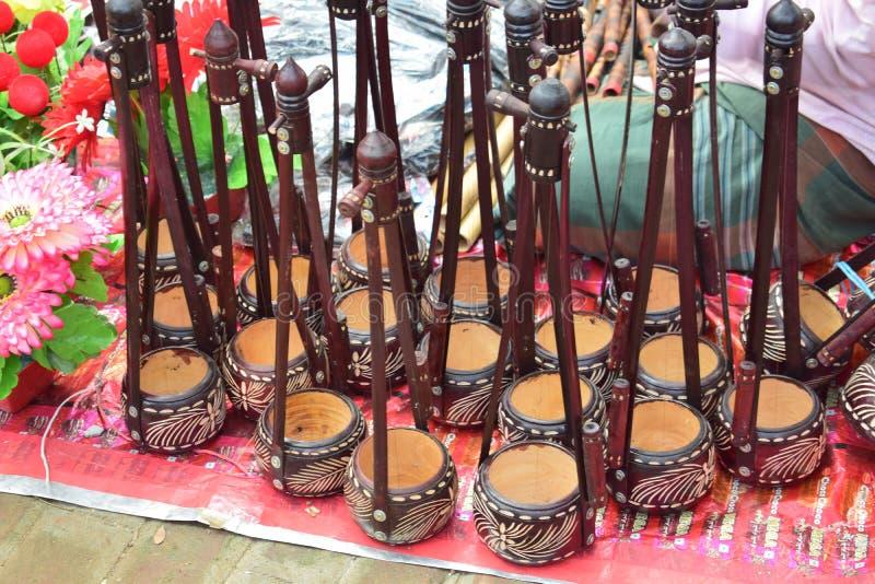 Monochord bonito indicado na feira local bengali fotografia de stock royalty free