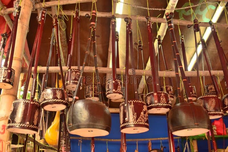Monochord de oscilação bonito indicado no mela de Boishakhi imagem de stock