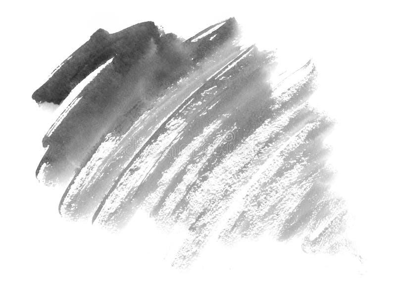 Monochrom akwareli popielaty tło - papierowa tekstura ilustracja wektor