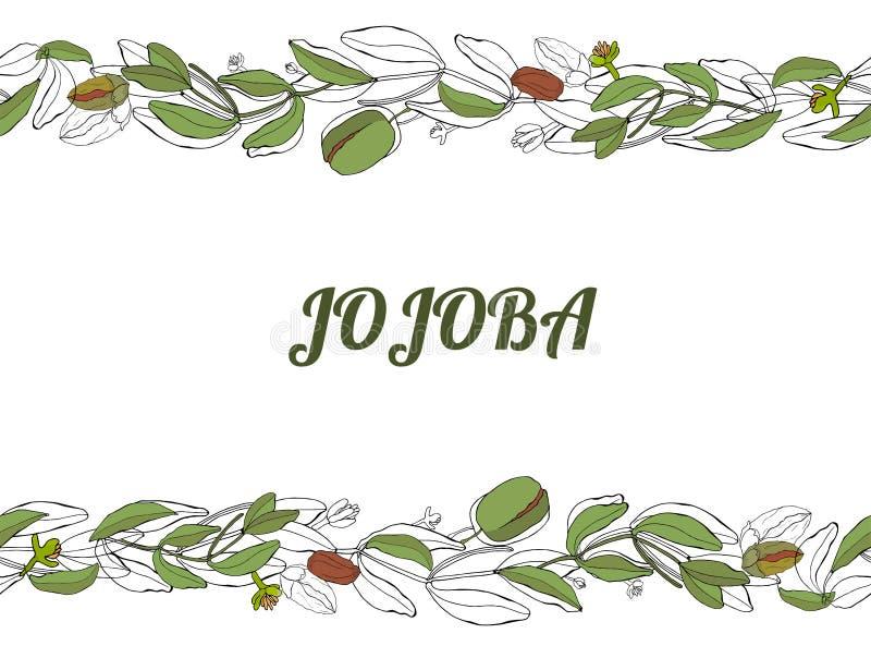 Monochrom de Gogoba stock de ilustración