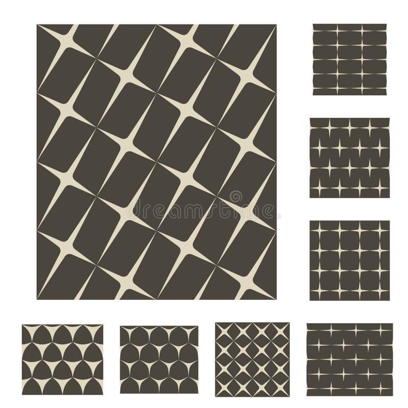 Monochrom funkelt nahtlose Hintergründe lizenzfreie abbildung