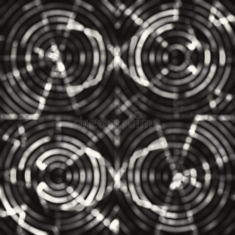Monochromatic abstract bokeh overlay texture. royalty free stock image