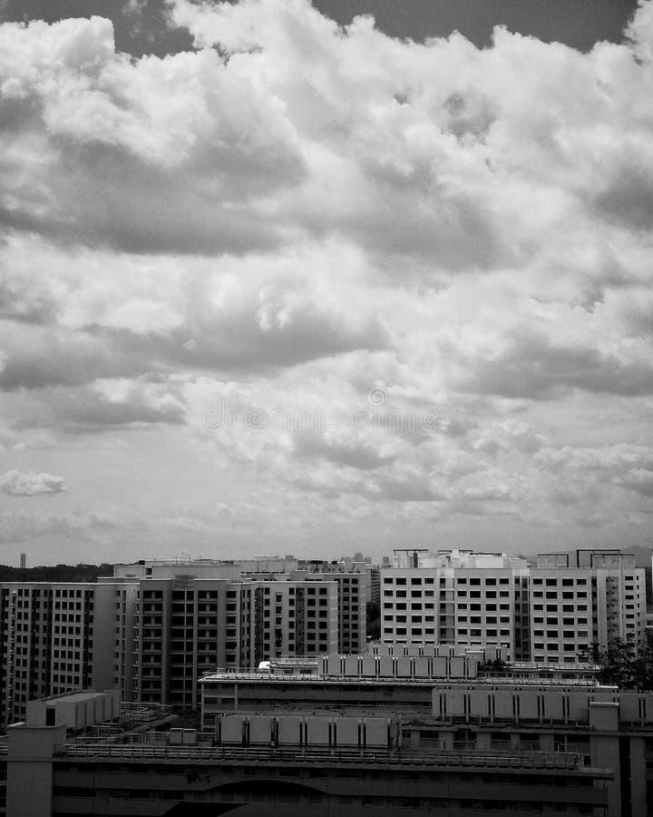 Monochromatic widok fotografia stock